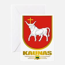 Kaunas COA (Flag 10)2 Greeting Card