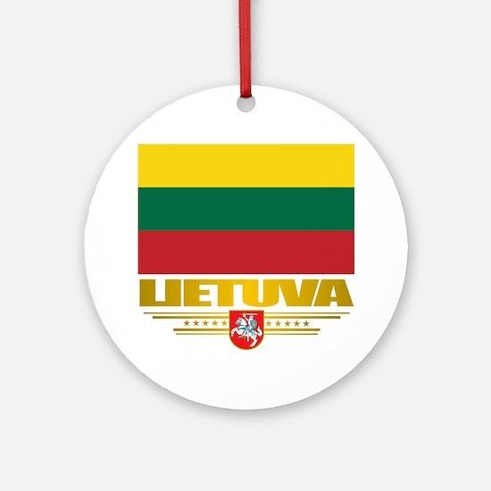 Lithuania (Flag 10)2 Round Ornament