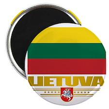 Lithuania (Flag 10)2 Magnet
