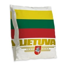 Lithuania (Flag 10)2 Burlap Throw Pillow