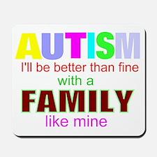 fine autism family Mousepad