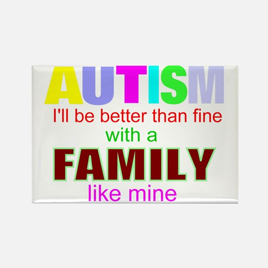 fine autism family Rectangle Magnet