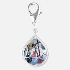 GlassBass Silver Teardrop Charm