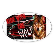 ride with the wolf Decal