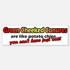 Potato Chips Green Cheeked Conure Bumper Bumper Bumper Sticker