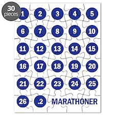Marathoner Numbers Blue Puzzle