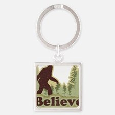 believe Square Keychain