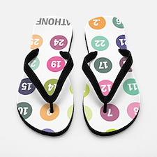 Marathoner Numbers Pastels Flip Flops