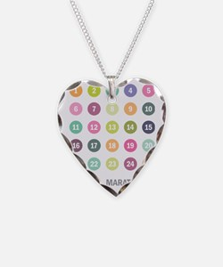 Marathoner Numbers Pastels Necklace