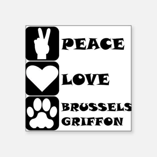 Peace Love Brussels Griffon Sticker