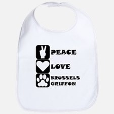 Peace Love Brussels Griffon Bib