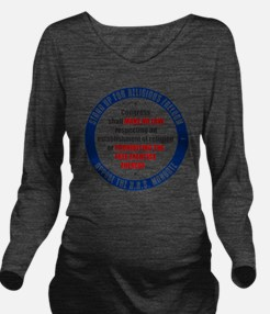 mar12_oppose_hhs Long Sleeve Maternity T-Shirt