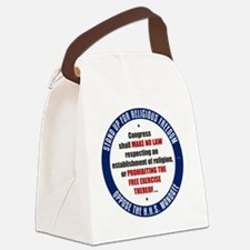 mar12_oppose_hhs Canvas Lunch Bag