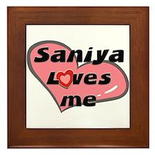 saniya loves me  Framed Tile