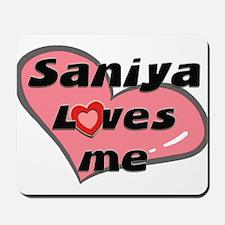 saniya loves me  Mousepad