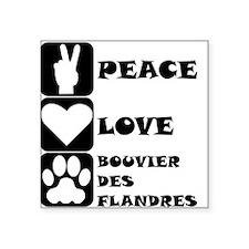 Peace Love Bouvier des Flandres Sticker