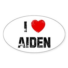 I * Aiden Oval Decal