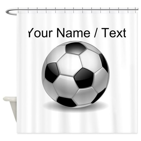 Custom Soccer Ball Shower Curtain