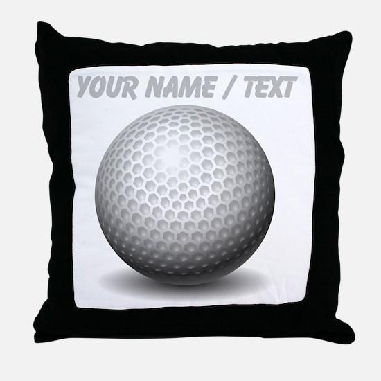 Custom Golf Ball Throw Pillow