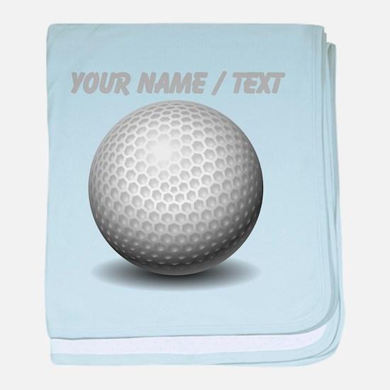 Custom Golf Ball baby blanket