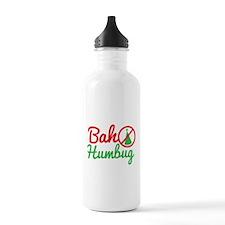 Bah Humbug NO CHRISTMAS! Sports Water Bottle