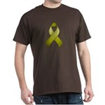 Olive Awareness Ribbon Dark T-Shirt