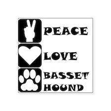 Peace Love Basset Hound Sticker