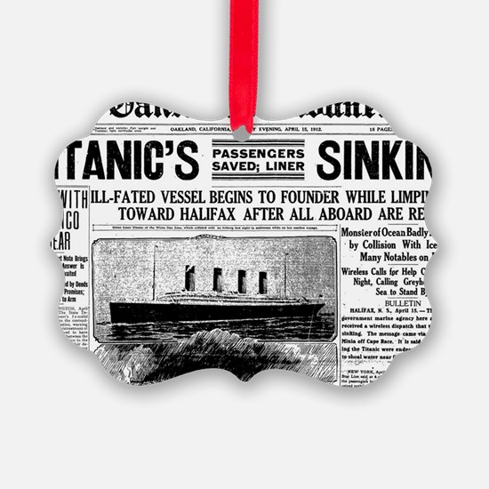 Oakland Tribune-TITANIC15-apr-191 Ornament