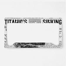 Oakland Tribune-TITANIC15-apr License Plate Holder