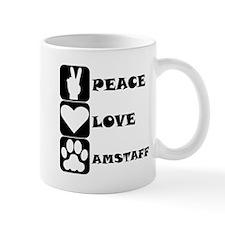 Peace Love AmStaff Mugs