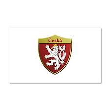 Czech Metallic Shield Car Magnet 20 x 12