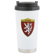 Czech Metallic Shield Travel Mug