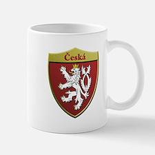 Czech Metallic Shield Mugs