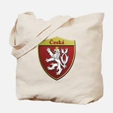Czech Metallic Shield Tote Bag