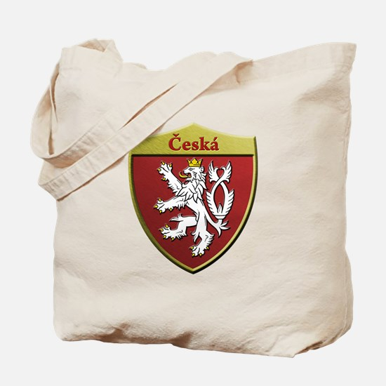 Czech Metallic Shield Tote Bag