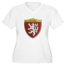 Czech Metallic Shield Plus Size T-Shirt