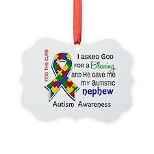 D Blessing 4 Autistic Nephew Ornament