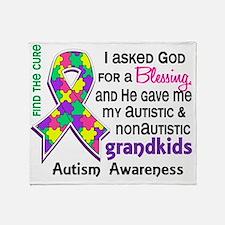 D Blessing 4 Autism Grandkids 2 Past Throw Blanket