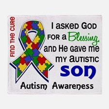 D Blessing 4 Autism Son Throw Blanket