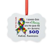 D Blessing 4 Autism Son Ornament