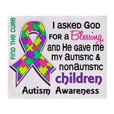 D Blessing 4 Autism Children 2 Paste Throw Blanket