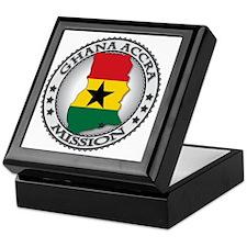 Ghana Accra LDS Mission Flag Cutout M Keepsake Box
