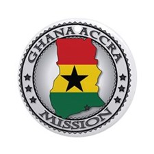 Ghana Accra LDS Mission Flag Cutout Round Ornament