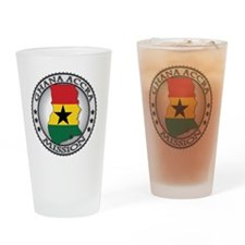 Ghana Accra LDS Mission Flag Cutout Drinking Glass