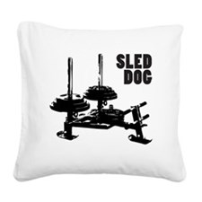 sled Square Canvas Pillow