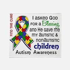 D Blessing 4 Autism Children 2 Prima Throw Blanket