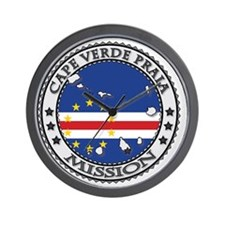 Cape Verde Praia LDS Mission Flag Cutou Wall Clock