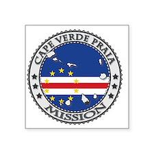 "Cape Verde Praia LDS Missio Square Sticker 3"" x 3"""
