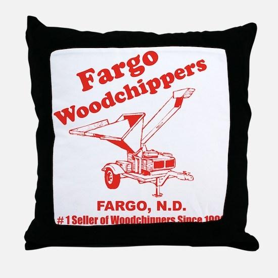 Fargowoodchippers Throw Pillow