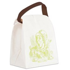 MadHatterTwinkleProofTranspforDar Canvas Lunch Bag